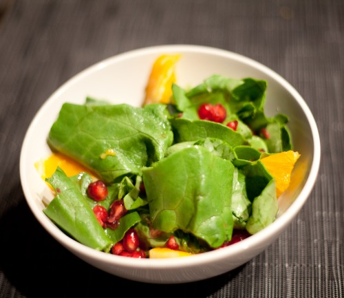 Pomegranate and Lettuce Salad