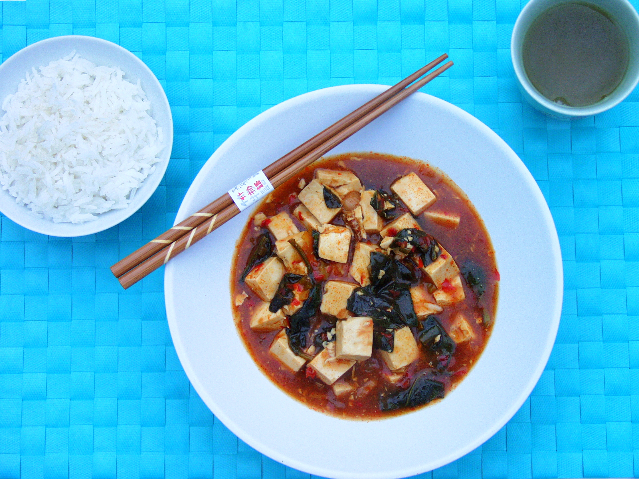 Image result for Mapo Tofu with Spring Onion and Black Beans
