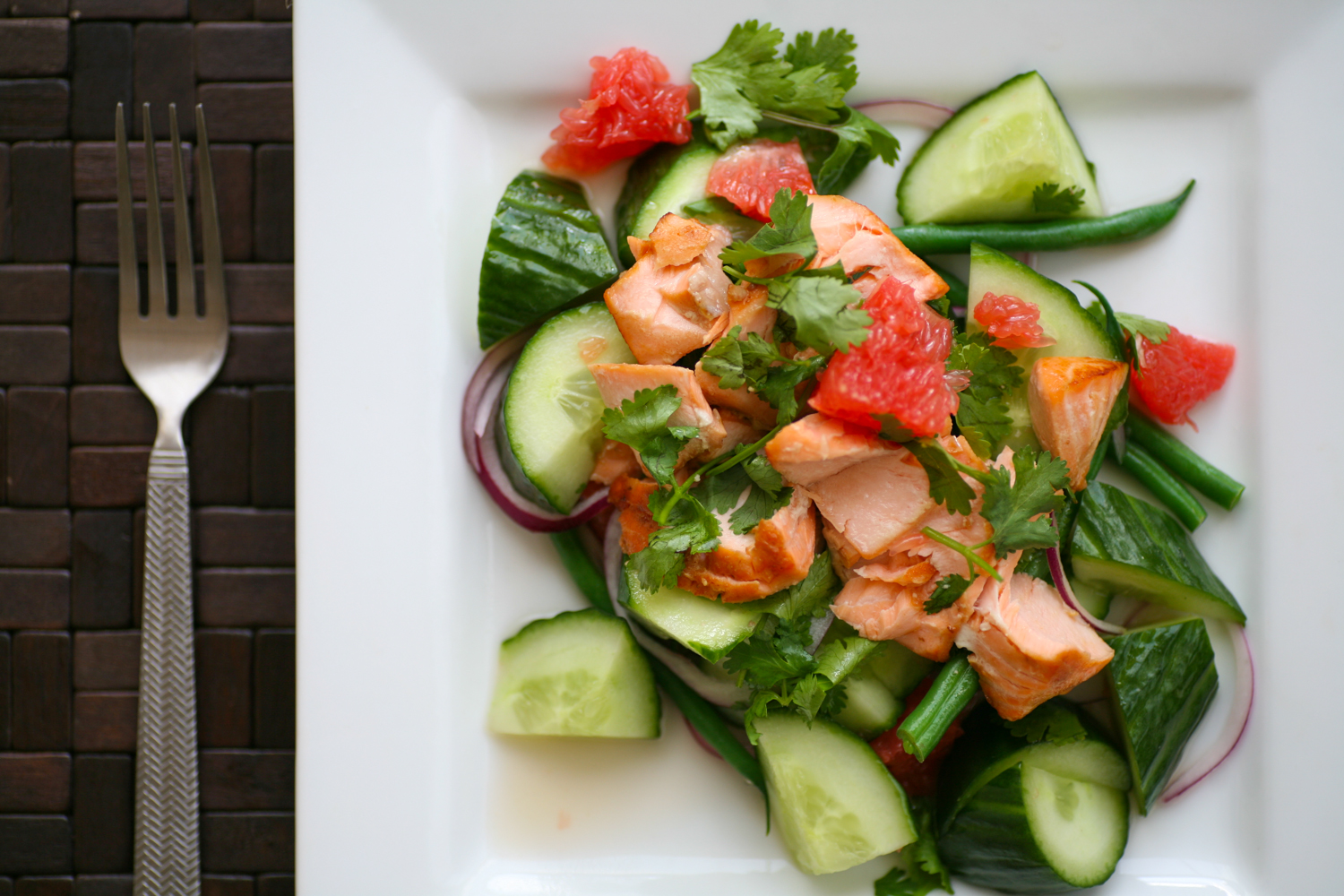 Vietnamese Inspired Salmon, Cucumber, Red Onion And -8205