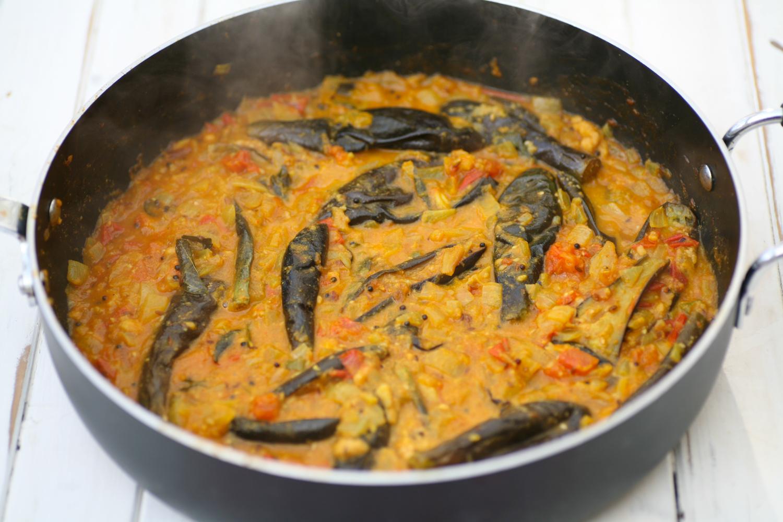 recipe: aubergine spinach curry coconut milk [5]
